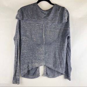 INHabit Sweaters - Inhabit 100% Linen, Distressed Button Up Cardigan